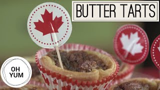 Canada Day Pecan Butter Tarts (COLLAB WITH ENTERTAINING WITH BETH) | Oh Yum with Anna Olson