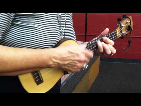 Del Rey finger picks on the Ukulele and sings Memphis Minnie