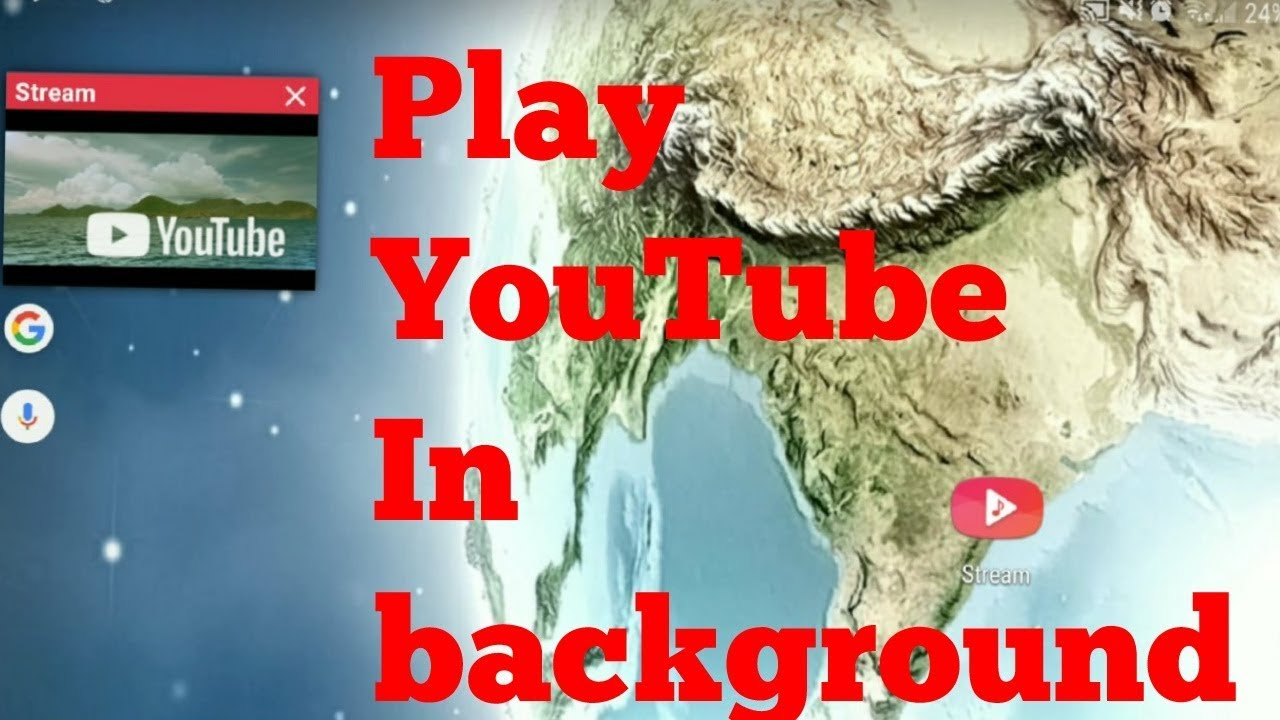 how to get youtube to play in the background