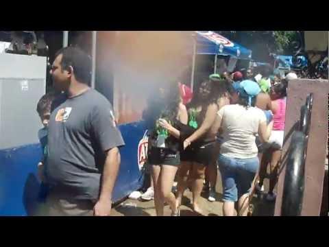 Panama Carnival 2011 wet and wild women walking