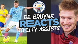 Kevin De Bruyne REACTS to Amazing City Goal Assists! | KDB on Assists