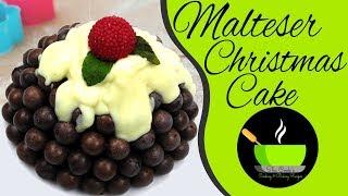 Malteser Christmas Cake Recipe |  DIY Holiday Treats | Christmas Recipes | No Bake Recipes