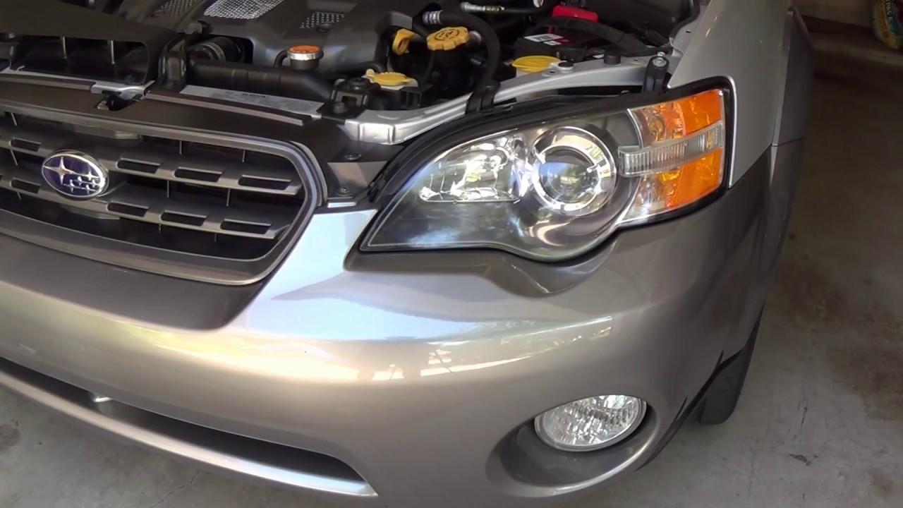 How To Remove  U0026 Install Low Beam Headlight Bulbs - 2005 Subaru Outback