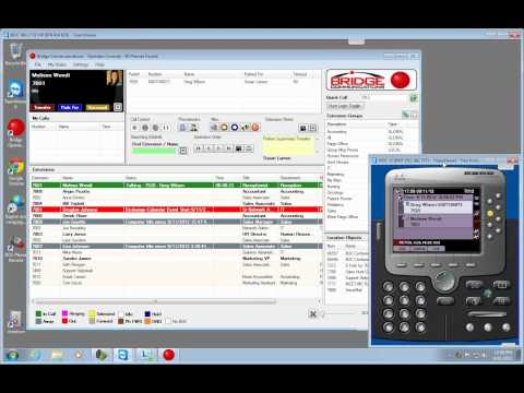 Bridge Operator Console - WIndows Demo - 9/11/2012 (Replacement for Cisco Attendant Console)