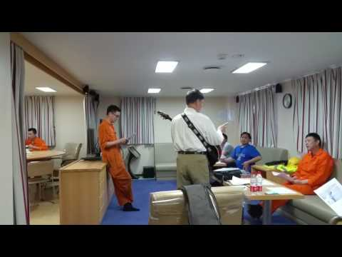 OOCL Utah ship evangelical meeting