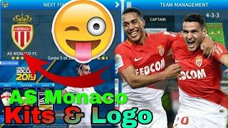 How To Create AS Monaco FC Team Kits & Logo | Dream League Soccer 2019