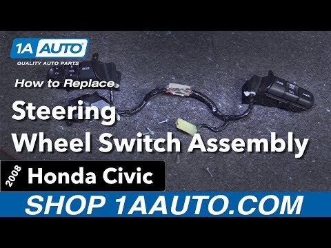 How to Replace Install Steering Wheel Switch Assembly  2008 Honda Civic