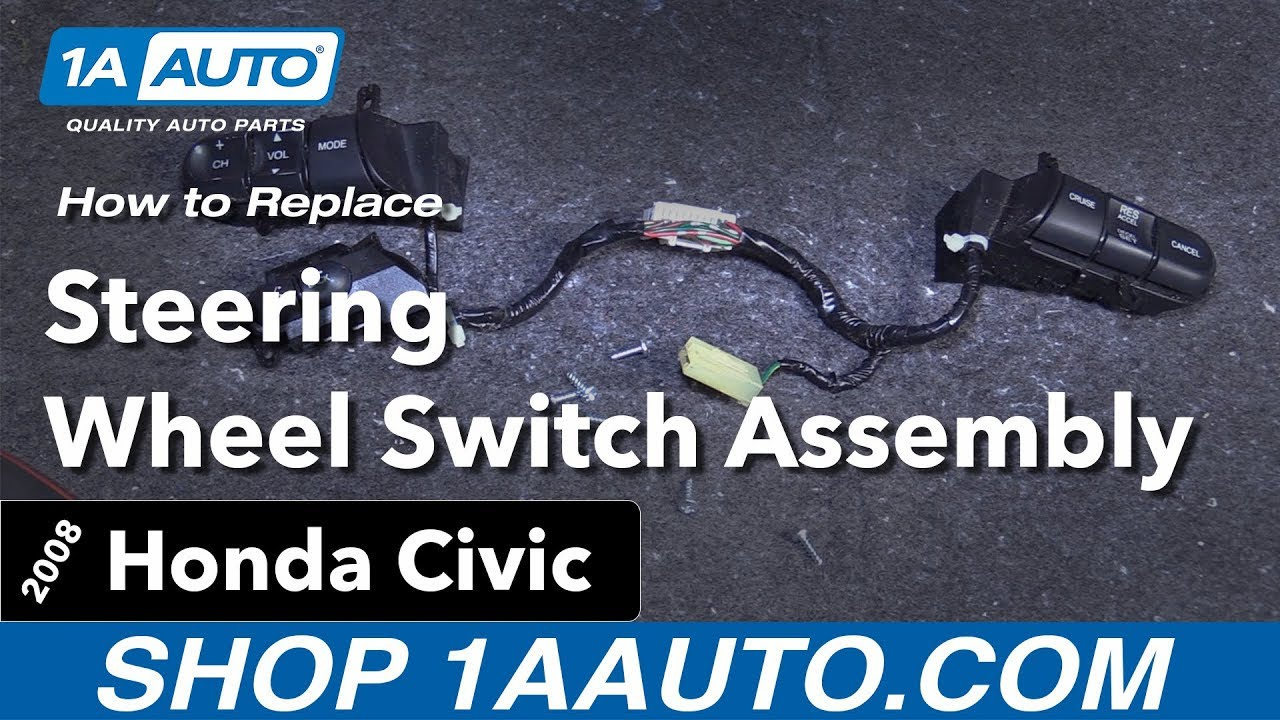 how to replace steering wheel switch assembly 05-11 honda civic