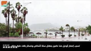 بالفيديو.. إعصار