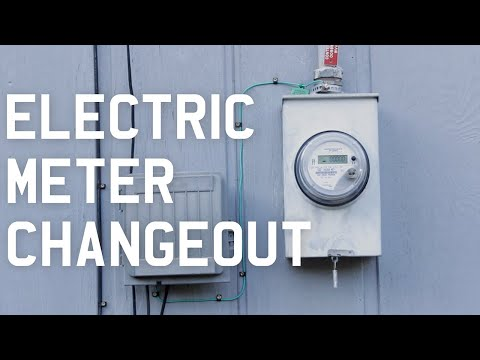 Electric Meter Changeout Youtube