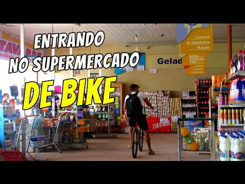 ENTRANDO DE BIKE NO SUPERMERCADO #Quem manda é você 10