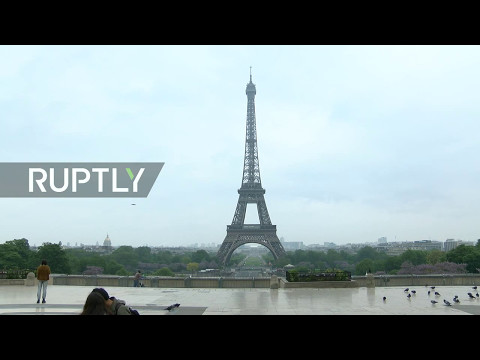 LIVE of Eiffel Tower as France wakes up to new president