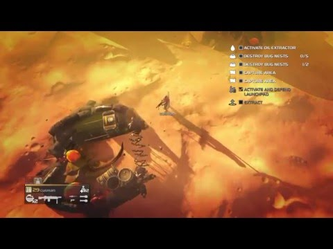 Helldivers - A/AC-6 Tesla Tower vs Bugs (Kepler Prime) |