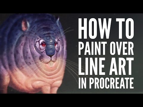 How to Paint Over Line Art in Procreate