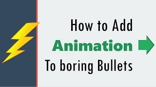How to Animate PowerPoint Bullet Points