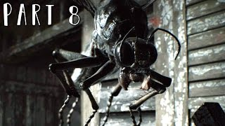 RESIDENT EVIL 7 Walkthrough Gameplay Part 8 - Giant Bugs (RE7)