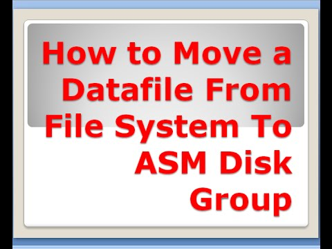 How to Move a Datafile From File System To ASM Disk Group