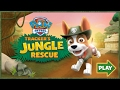 Paw Patrol Tracker's Jungle Rescue Gameplay Nick Jr online game