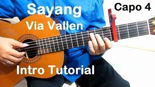 (Capo 4) Belajar Gitar Sayang Via Vallen (Intro) - Belajar Gitar Fingerstyle Untuk Pemula