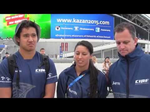 Swimming for the Cooks Islands - 2015 World Championships