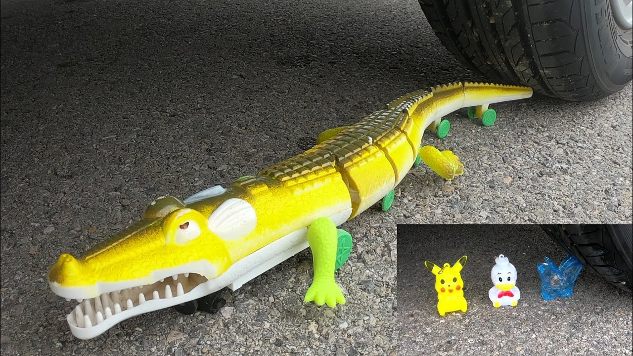 Download crushing crunchy and soft thing by car! - EXPERIMENT: car vs crocodile, ice cream box, pop corn, toy