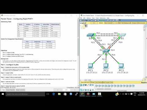 CCNA spanning tree - Rapid PVST - How to configure rstp protocol