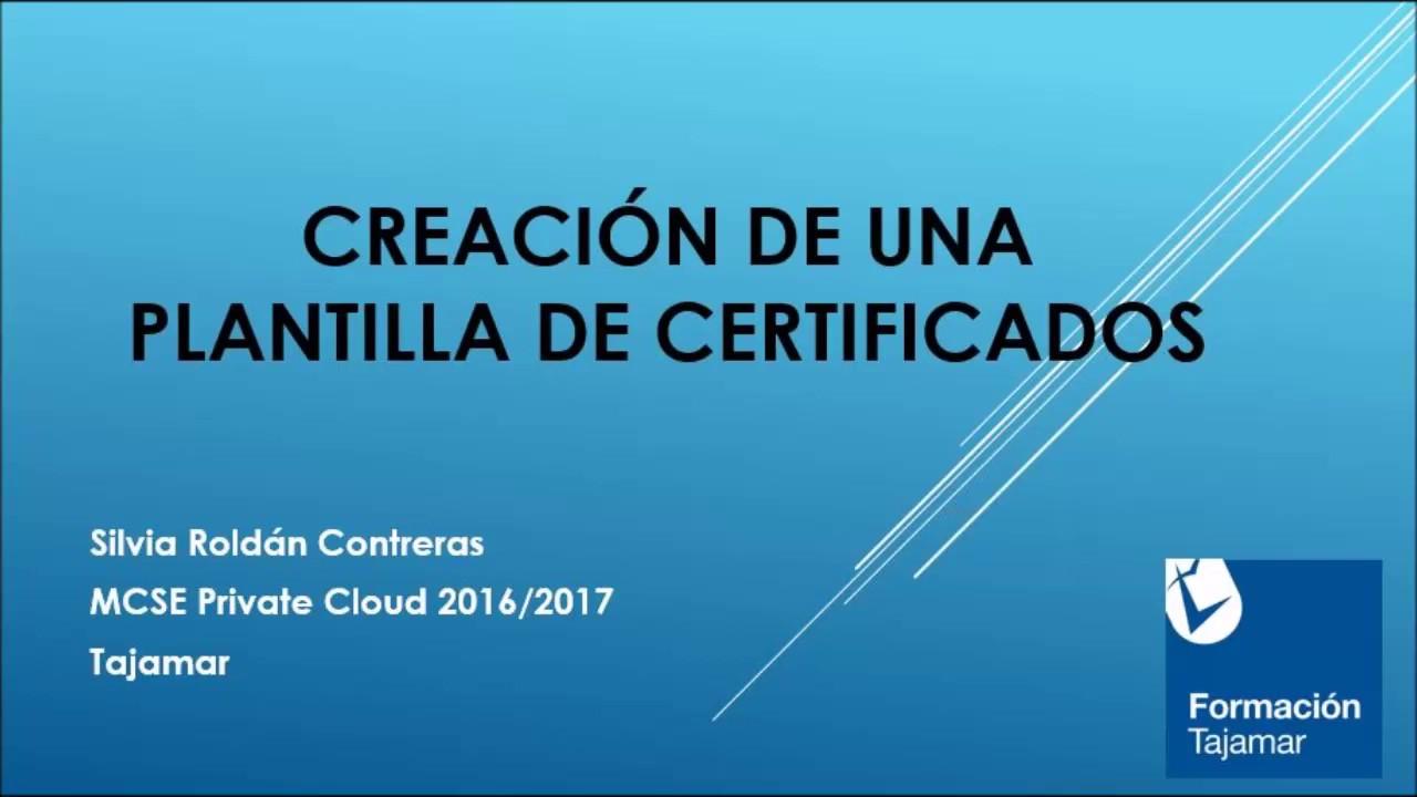 Creación de una plantilla de certificados - YouTube