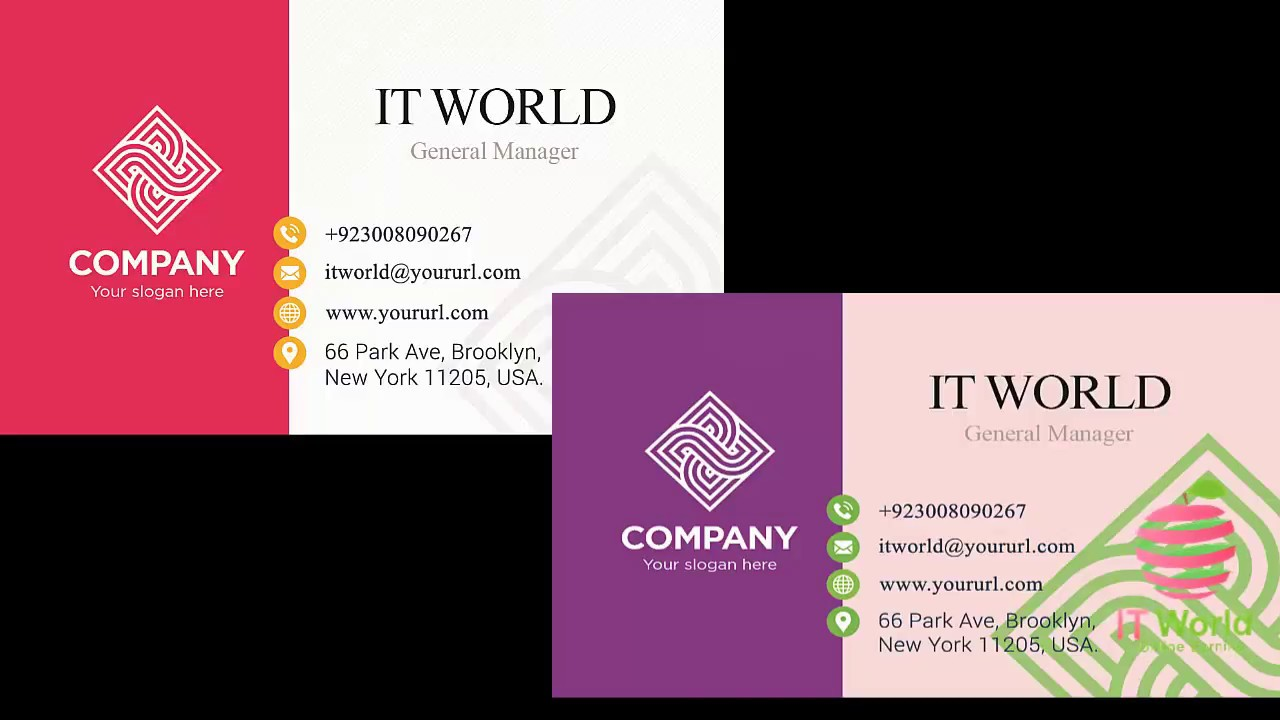 How To Create Business Card in Photoshop IT World Shahid Rafiq ...