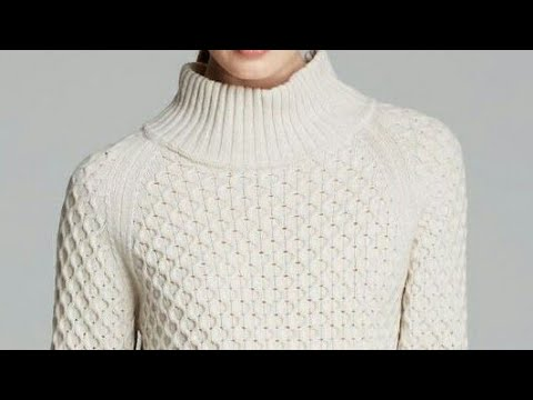 beaa2bc9a Highneck Sweater in Hindi Dibbi with Cable Design-Step by Step ...