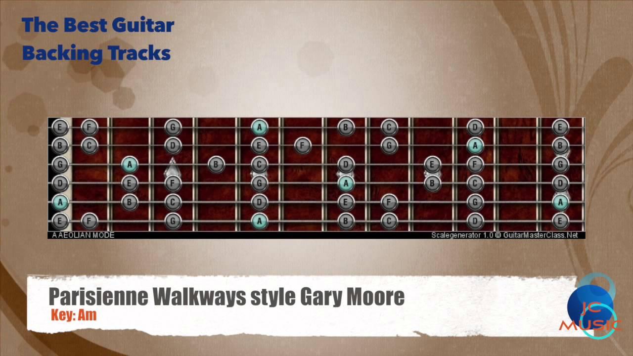 Parisienne Walkways Gary Moore Guitar Backing Track Guitar Map Scale