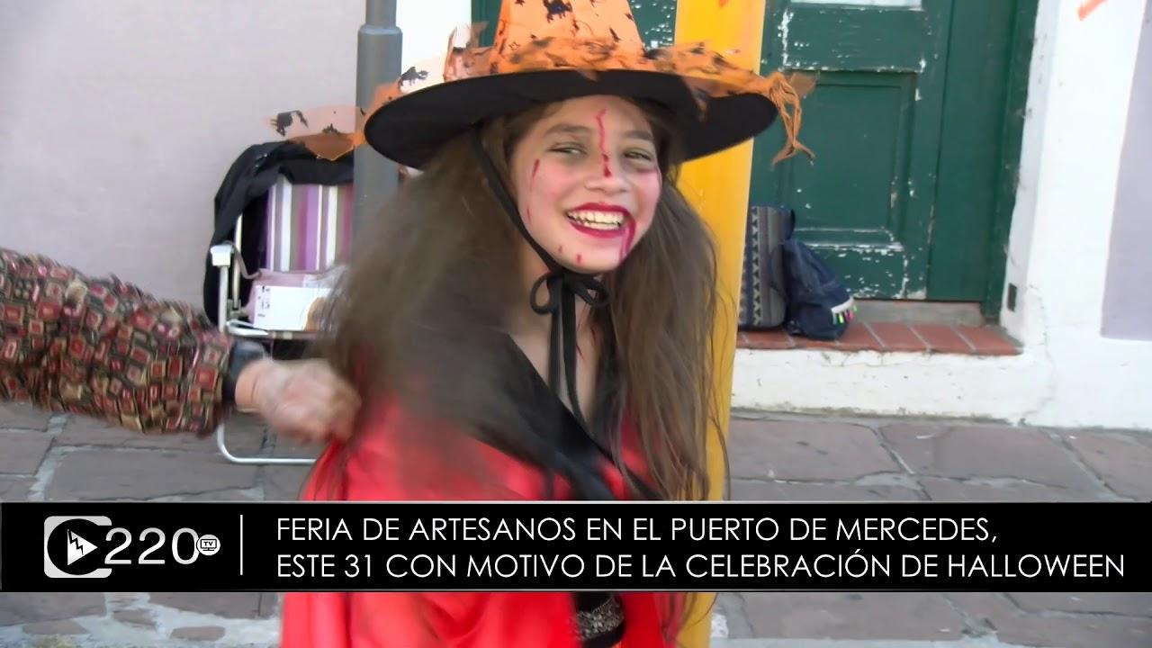 Feria de artesanos en zona del Puerto junto a la celebración de Halloween