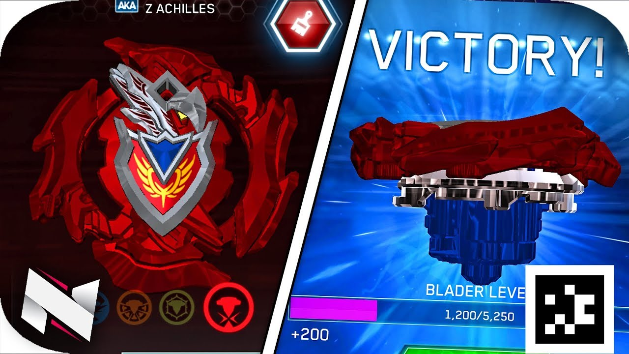Download Z Achilles A4 Qr Code Gameplay Beyblade