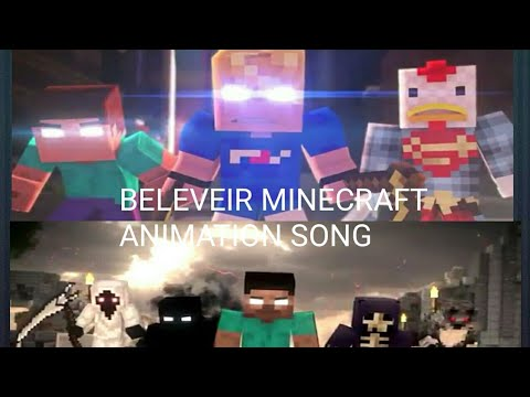 Minecraft Animation(Believer Song Imagine Dragon)by Fredisaal and Black Plasma Studio