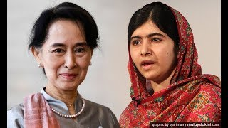 Revoke nobel price from Suu Kyi: several Nobel laureates.