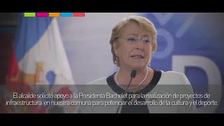 Presidenta Bachelet visita colegio D-200 en Villa Macul