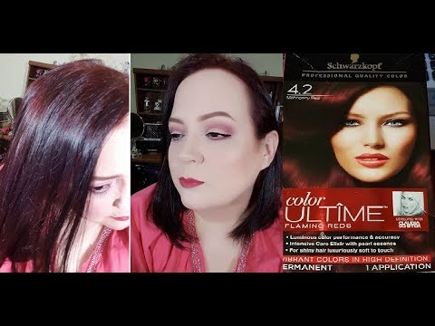 Schwarzkopf Hair Dye Mahogany Red Vibrant Colors In High Definition
