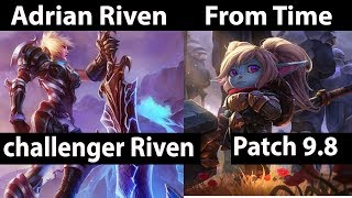 [ [ Adrian Riven ] Riven vs Poppy  [ From Time ] Top  - Adrian Riven Stream Patch 9.8