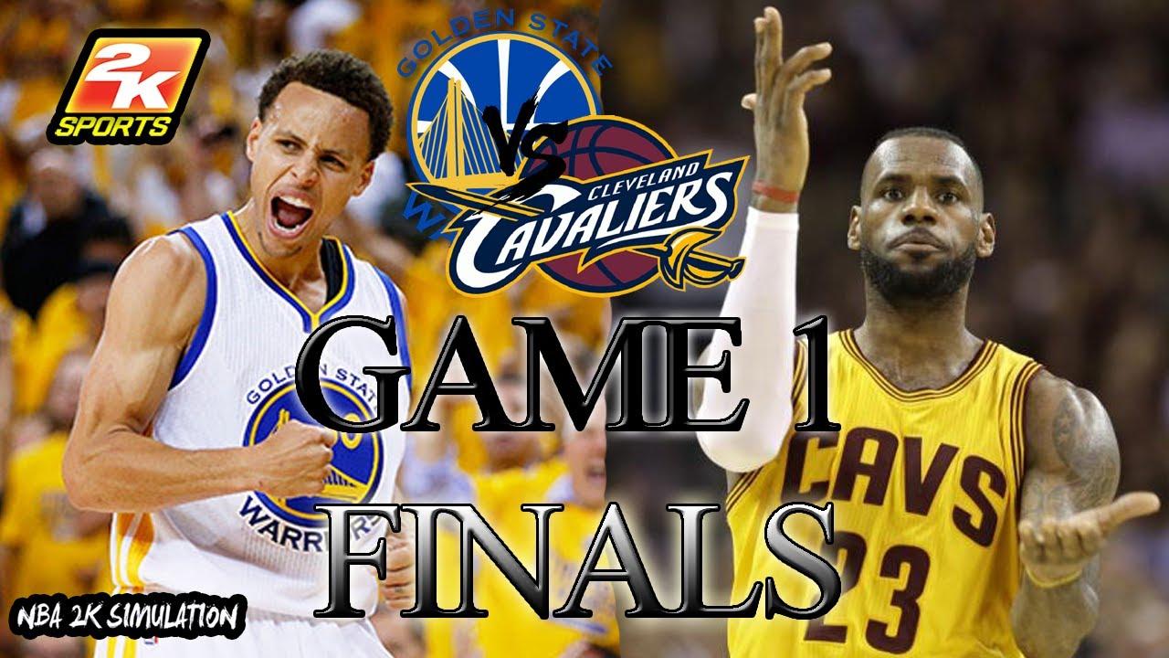 Cleveland Cavaliers vs Golden State Warriors - Game 1 - 2017 NBA Finals - NBA 2K17 - YouTube