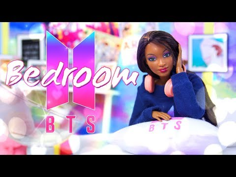 DIY - How to Make: Doll BTS Bedroom | Posters | Accessories | Bed | Desk & more