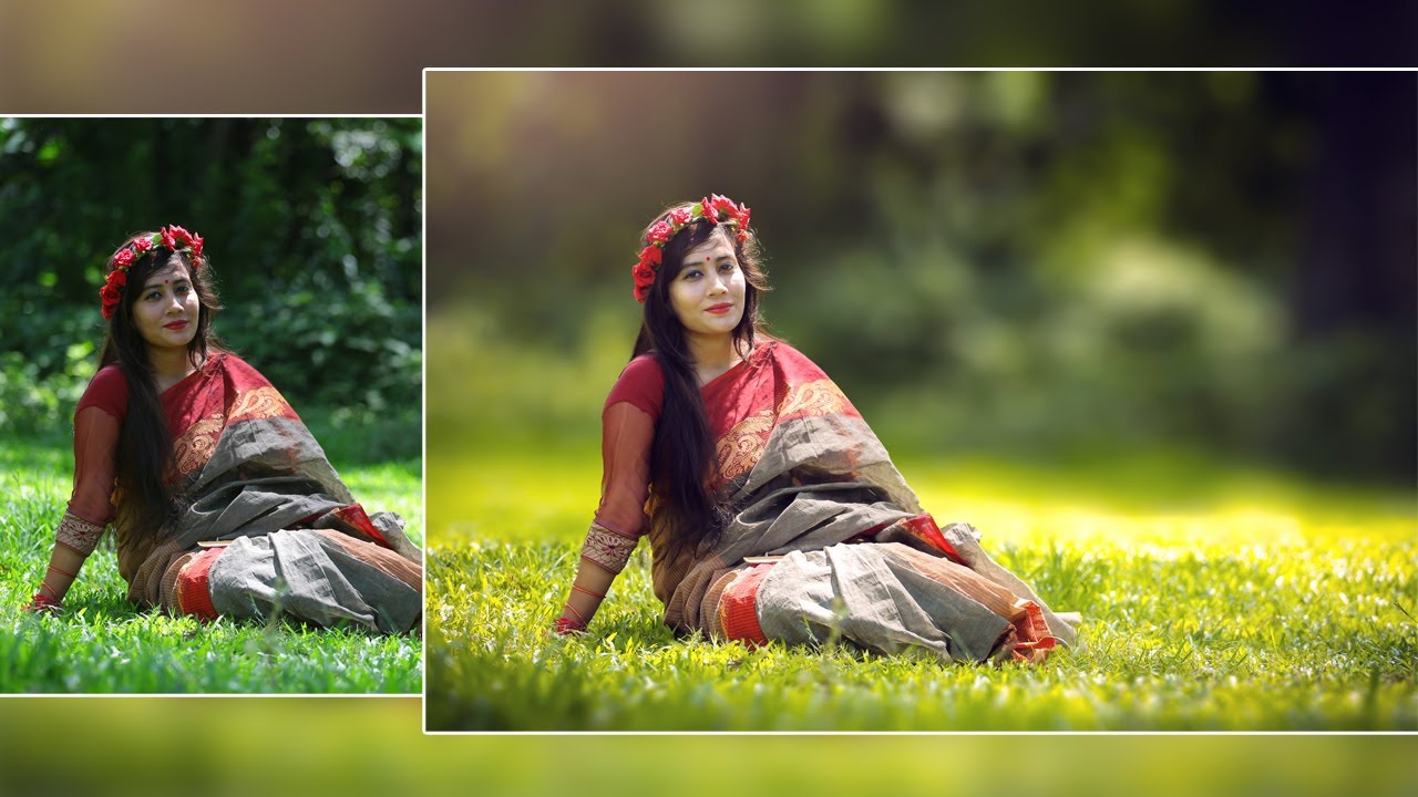 Photoshop Tutorial How To Edit Outdoor Portrait Blur Background And Soft Light Effect
