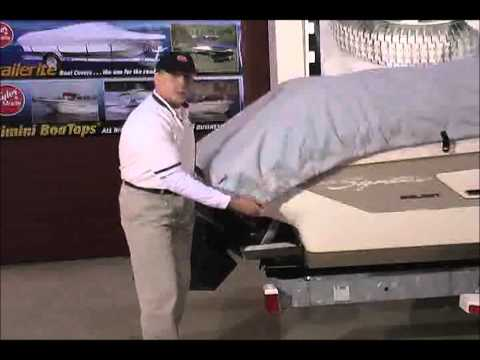 How To Tie Down Your Boat Cover  - Taylor Made Boat Covers Part 5 - Tightening The Cord