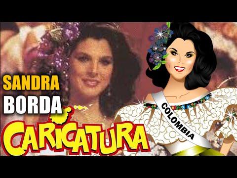 SANDRA BORDA - Cartoon -Best National Costume 1985 MISS UNIVERSE.