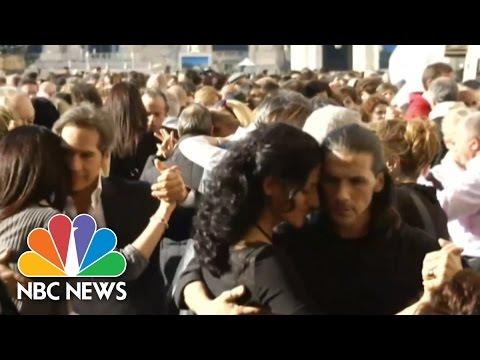 Flashmob Tango In Celebration Of Pope Francis' Birthday | NBC News