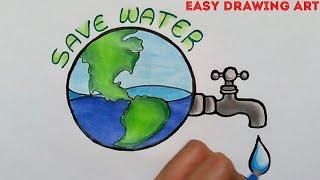 Gagasan Untuk Poster Save Earth Drawing Koleksi Poster