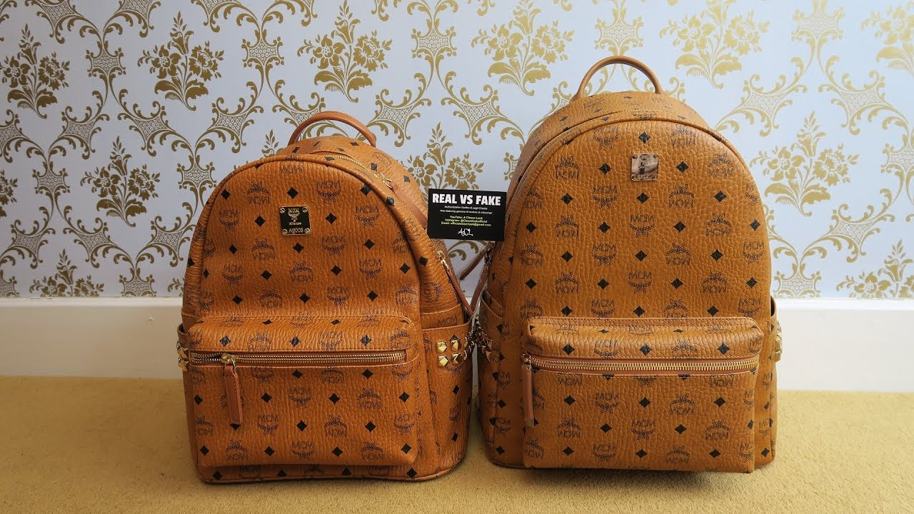 How To Spot Real Vs Fake Mcm Backpack Authentic Replica Stark Review Guide