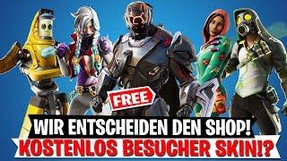 WE DECIDE NEW SKINS! Free Visitor Skin Leak!? | Fortnite English