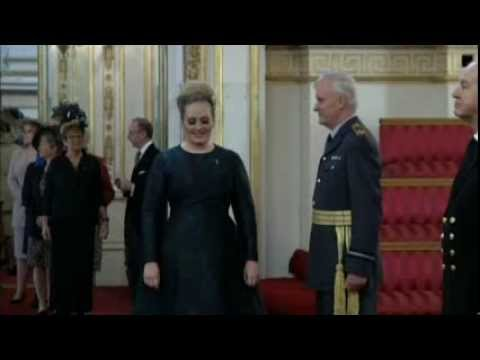 Adele at Buckingham Palace to receive MBE (December 19th, 2013)