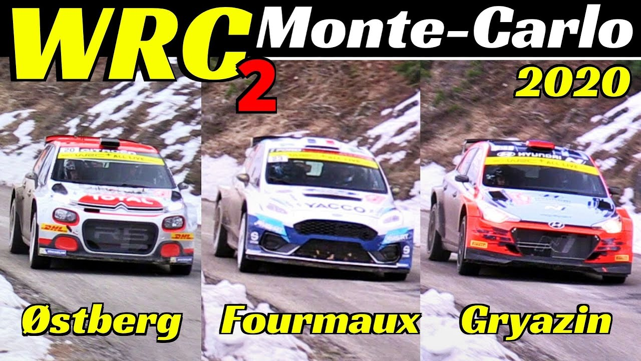 WRC2 Rallye Monte-Carlo 2020 - Østberg, Fourmaux & Gryazin - C3 R5, Fiesta MKII R5 & i20 R5