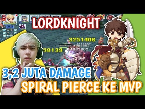 TERCIDUK !! EQUIP SHIPDONT PRO LORD KNIGHT LEVEL 99 DMG KE MVP 3JUTA+ SPIRAL PIERCE RAGNAROK MOBILE