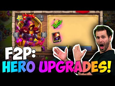 JT's F2P Massive Upgrade To Heroes ONETIME! Castle Clash
